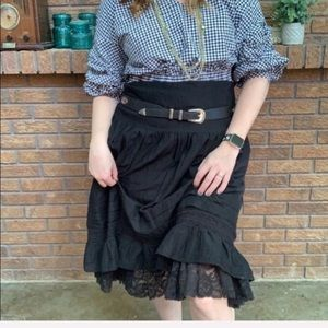 Joie A-line Black Layered Skirt